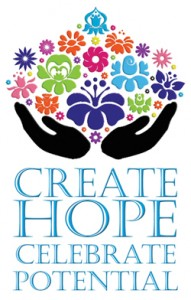 create hope celebrate potential disability flower
